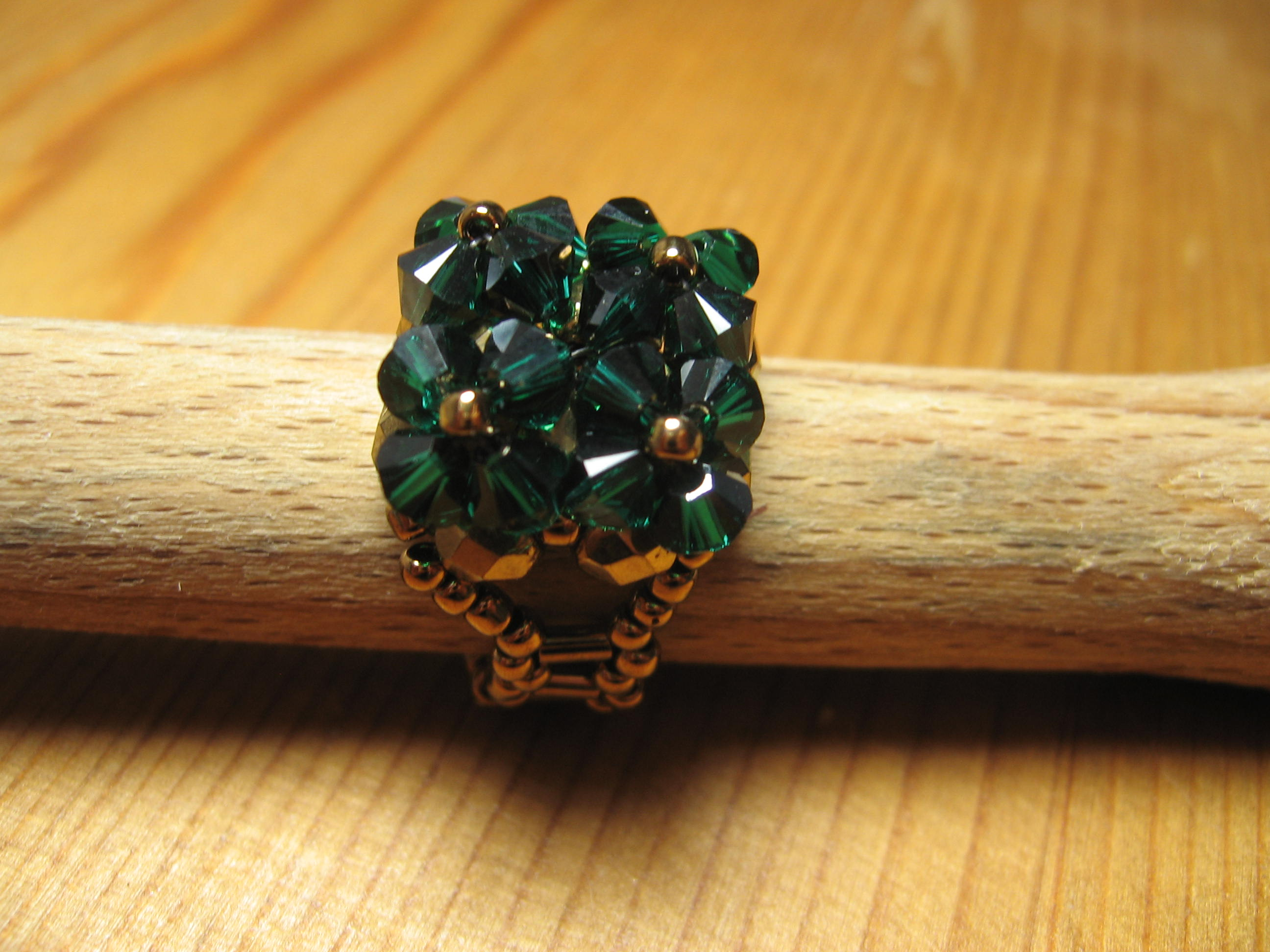 beaded ring peyote beads beading rings perline delica rocailles pin